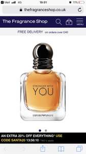 Giorgio Armani stronger with you EDT 50ml £36 Fragrance Shop