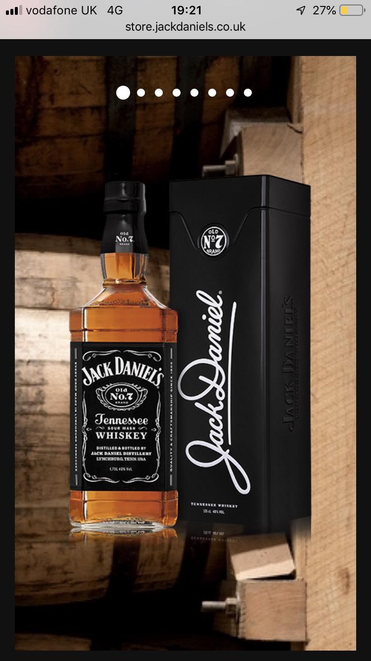1.75lt jack daniels - £38.49 @ Jack Daniels Store