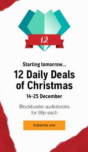 Audiobooks for 99p! It's the 12 Daily Deals of Christmas @ Audible