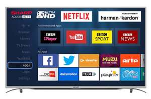 """Sharp LC-55CUG8362KS 55"""" 4K Ultra HD Smart TV - 5 Year Warranty included - £379.99 Delivered @ Costco"""