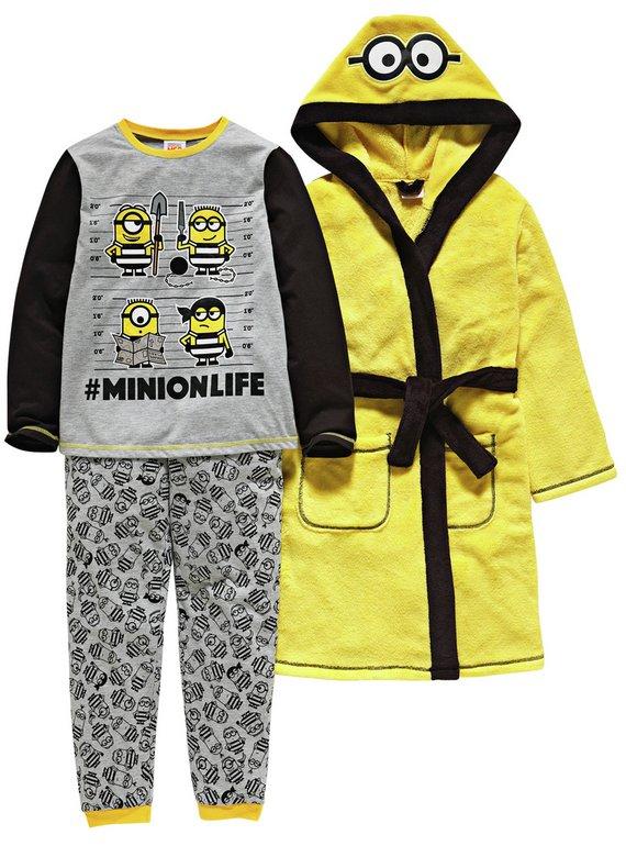 Minions yellow ( or pink ) Pyjamas & Dressing Gown Set upto 9-10 yrs, Now £15.99 @ Argos