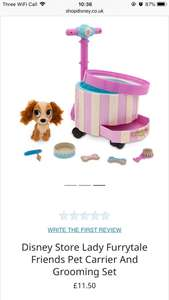 Disneystore lady furrytale friends pet carrier and grooming set £11.50 with free delivery