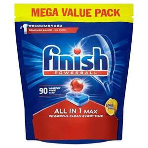 Finish Dishwasher Tablets, All in 1 Max Lemon, 90-Count  £8.99 ( prime ) + £4.49 delivery (Non Prime) @ Amazon