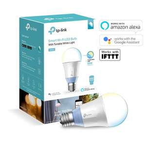 TP-Link Smart WiFi Light Bulb, E27, 10W, Works with Amazon Alexa (Echo and Echo Dot), Google Home £19.99 Prime / £24.48 Non Prime @ Amazon