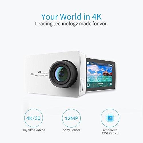 YI 4K Action Camera, 4K/30fps 12MP  + Selfie Stick £44.44 Delivered @ Amazon Germany
