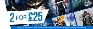 Two for £25 'Playstation Hits' Games @ PSN Store incl Uncharted Collection / Uncharted 4 / Last Of Us / Shadow of Mordor
