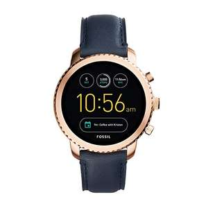 FOSSIL Q Explorist Smartwatch (Gen 3) Navy Leather - £109 Amazon Deal of the Day