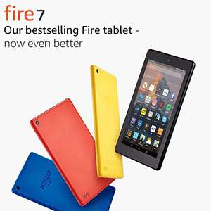 "Fire 7 Tablet with Alexa, 7"" Display, 8GB £34.99 / 16GB £44.99 