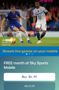 Free month of Sky sport mobile with the sweat coins app