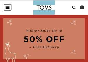 Toms - up to 50% off sale + Free Shipping