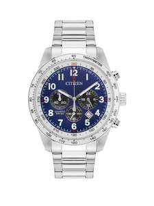 Citizen AN8160-52L Blue Dial Chronograph Stainless Steel Bracelet Mens Watch £69 @ Very - Free delivery with Click and Collect