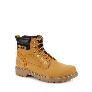 Caterpillar - Tan nubuck 'Stick Shift' lace up boots, £52 with code delivered at Debenhams