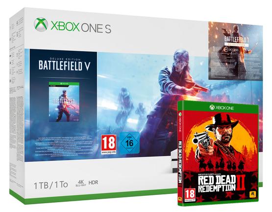 Xbox One S 1TB Battlefield V Deluxe Edition Console Plus Red Dead Redemption 2 - £199.00 - Shopto (Add Forza Horizon 4 for £9.85)