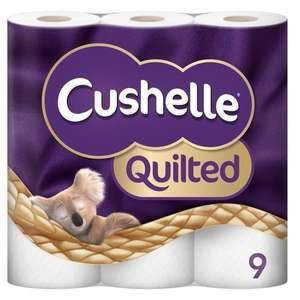 Cushelle Toilet Tissue 9 Roll White £1 + £4.95 Delivery & £20 min spend @ Poundshop