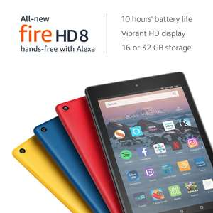 "All-New Fire HD 8 Tablet with Alexa, 8"" HD Display, 16 GB, Black £59.99 @ Amazon"