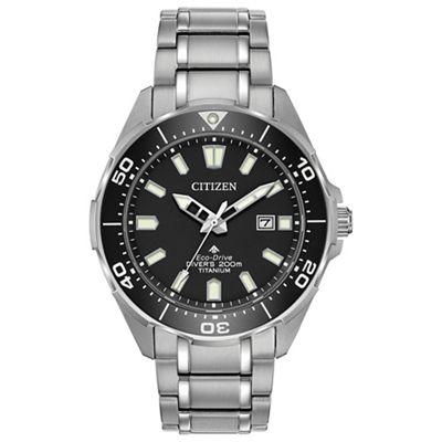 Citizen - Men's Silver 'Promaster Diver' Eco Drive Analogue Titanium Bracelet Watch, £236.80 with code at debenhams