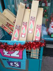5ft artificial Christmas tree £2 reduced from £5 - Poundland Bedminster Bristol