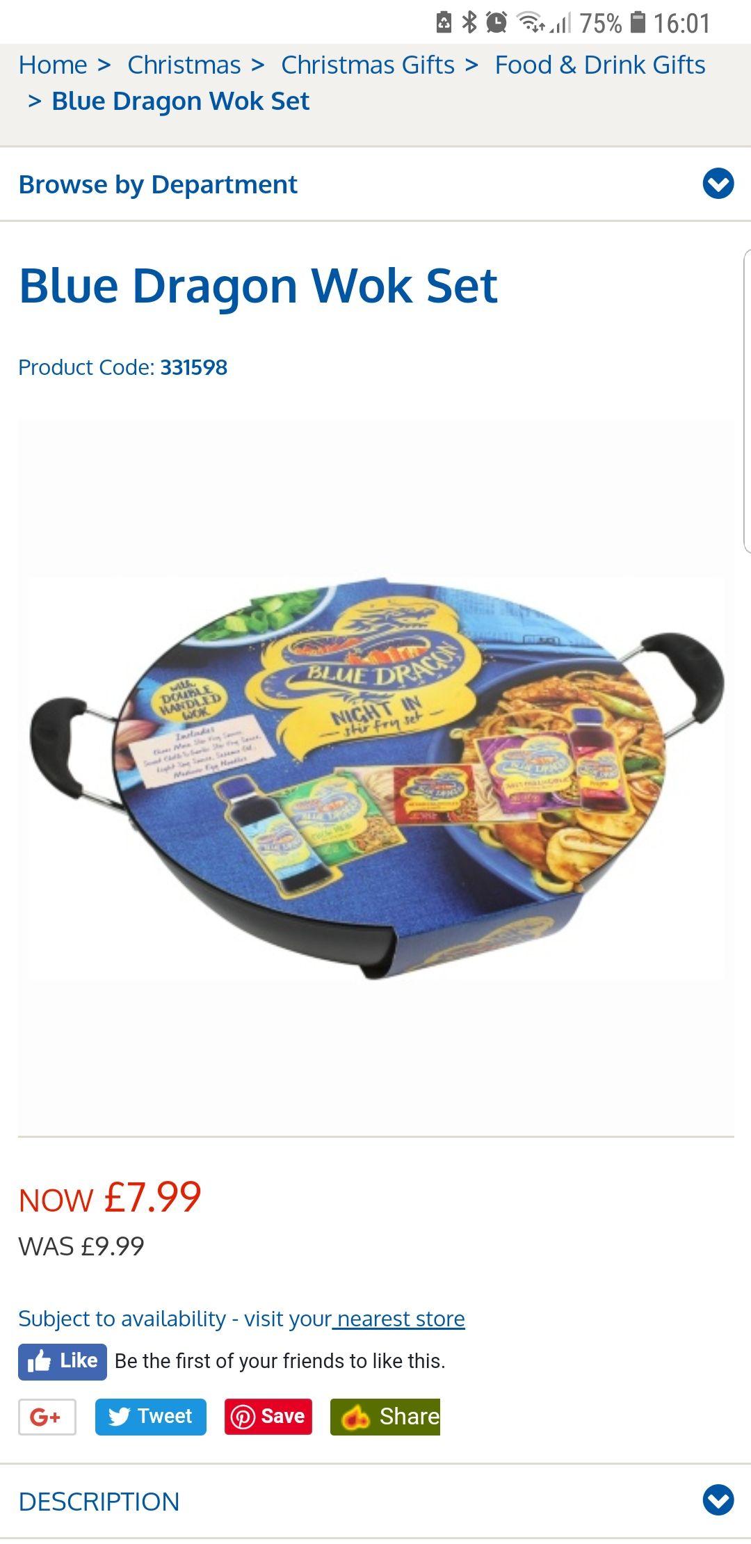 blue dragon wok B&M Bargains - £7.99