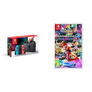 Nintendo Switch Neon Red + Mario Kart 8 Deluxe - £269 Delivered @ Amazon France