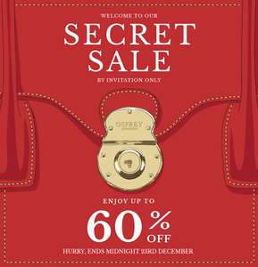 Secret Sale at Osprey - up to 60% off bags and accessories