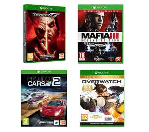 Tekken 7 & Mafia III Deluxe Edition & Overwatch GOTY & Project Cars 2 Xbox One Games Bundle £39.99 delivered @currys