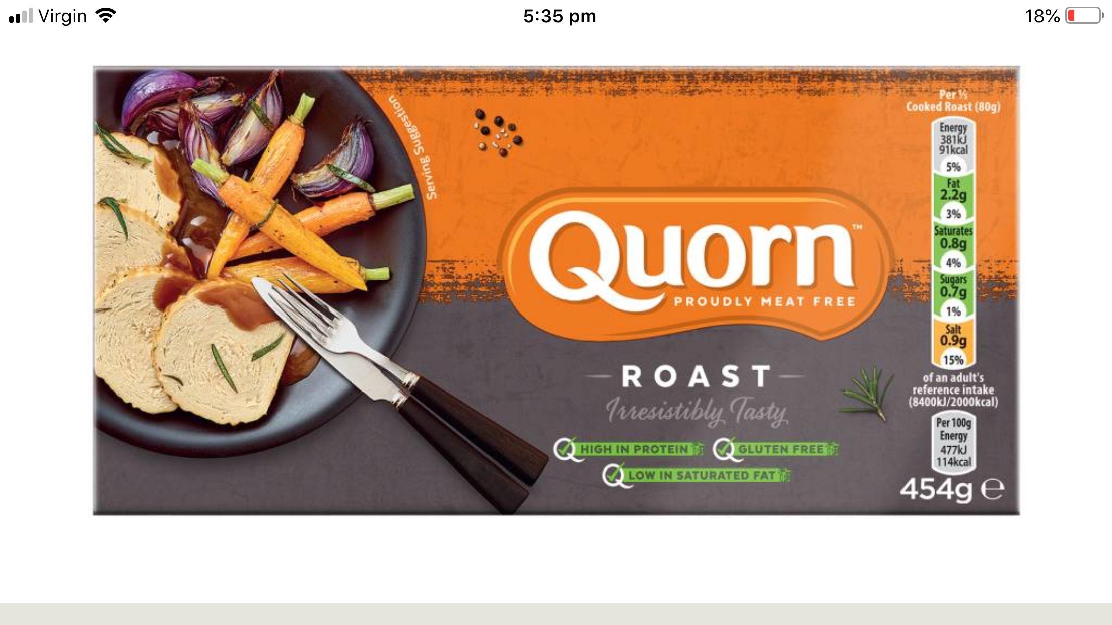 Quorn family roast 454g £2 @ Tesco