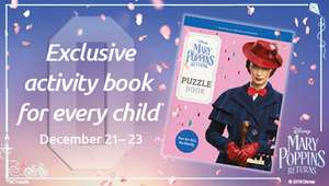 Exclusive Mary Poppins Returns activity book between Dec 21st and 23rd at Odeon Cinemas