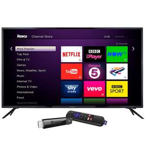 Linsar 65inch 4K UHD LED TV with 4K Roku Streaming Stick + 5 Year Warranty - £488.99 w/code Delivered @ Co-op Electrical