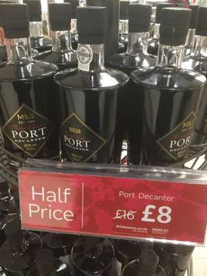 M&S Special Reserve Port Decanter (50cl - 20% volume) is half price - Instore Only £8
