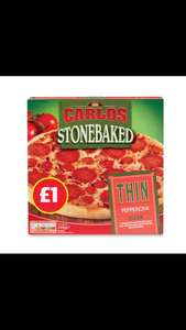 Aldi Stonebake frozen pepperoni pizza and four cheese pizza 67p