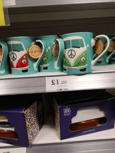 Vw camper mug. Home bargains. Good price for the usual over inflated merchandise - £1.29 instore @ Home Bargains