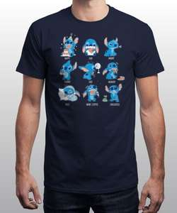 Lilo and stitch top 24hr sale £6 plus £2.99 postage at Qwertee