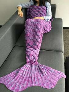 Mermaid Tail blanket I'm S and M sizes (free delivery) £5.77 Del @ Dresslily