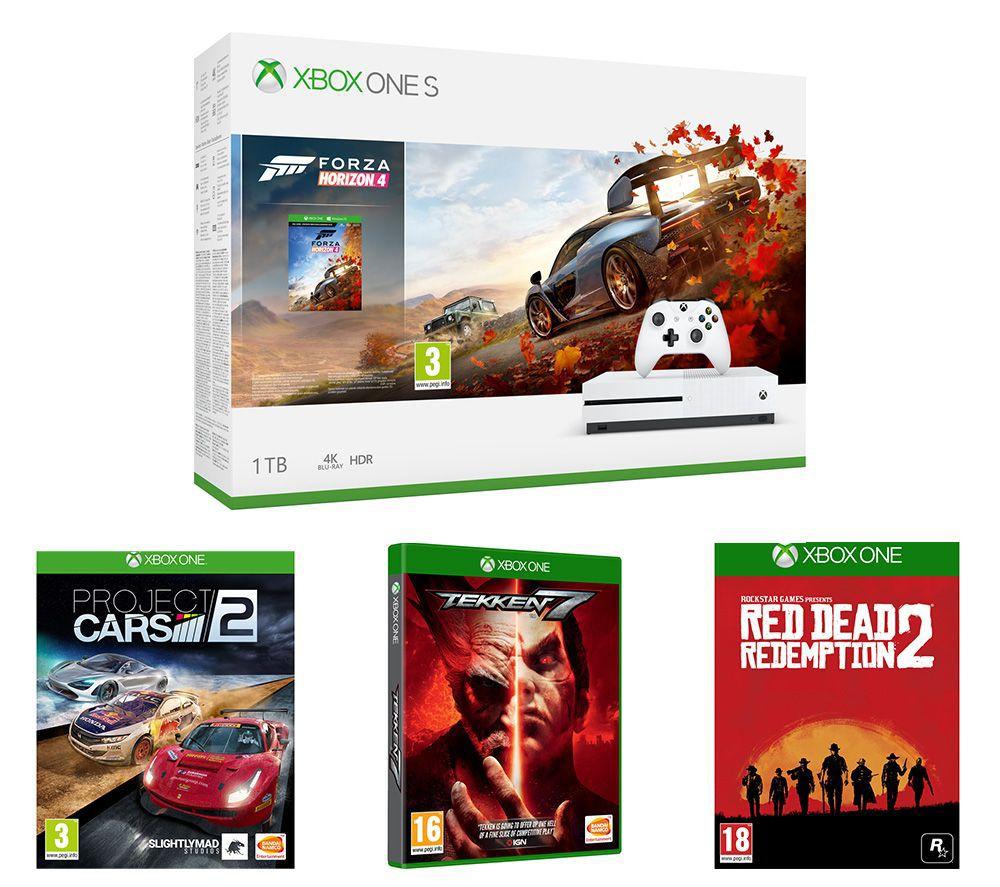 MICROSOFTXbox One S, Forza Horizon 4, Red Dead Redemption 2, Tekken 7 & Project Cars 2 Bundle