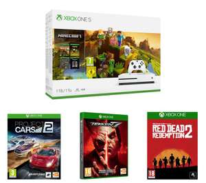 MICROSOFTXbox One S, Minecraft, Red Dead Redemption 2, Tekken 7 & Project Cars 2 Bundle £204.99 at Currys