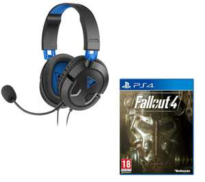 TURTLE BEACH Ear Force Recon 50P Gaming Headset & Fallout 4 Bundle - Black & Blue £26.99 @ Currys with Free Delivery