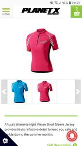 Altura Womens Nightvision Short Sleeve Jersey 8.96 delivered @PlanetX