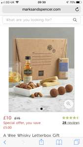 Marks and spencers wee whisky letter box gift £10 @ M&S