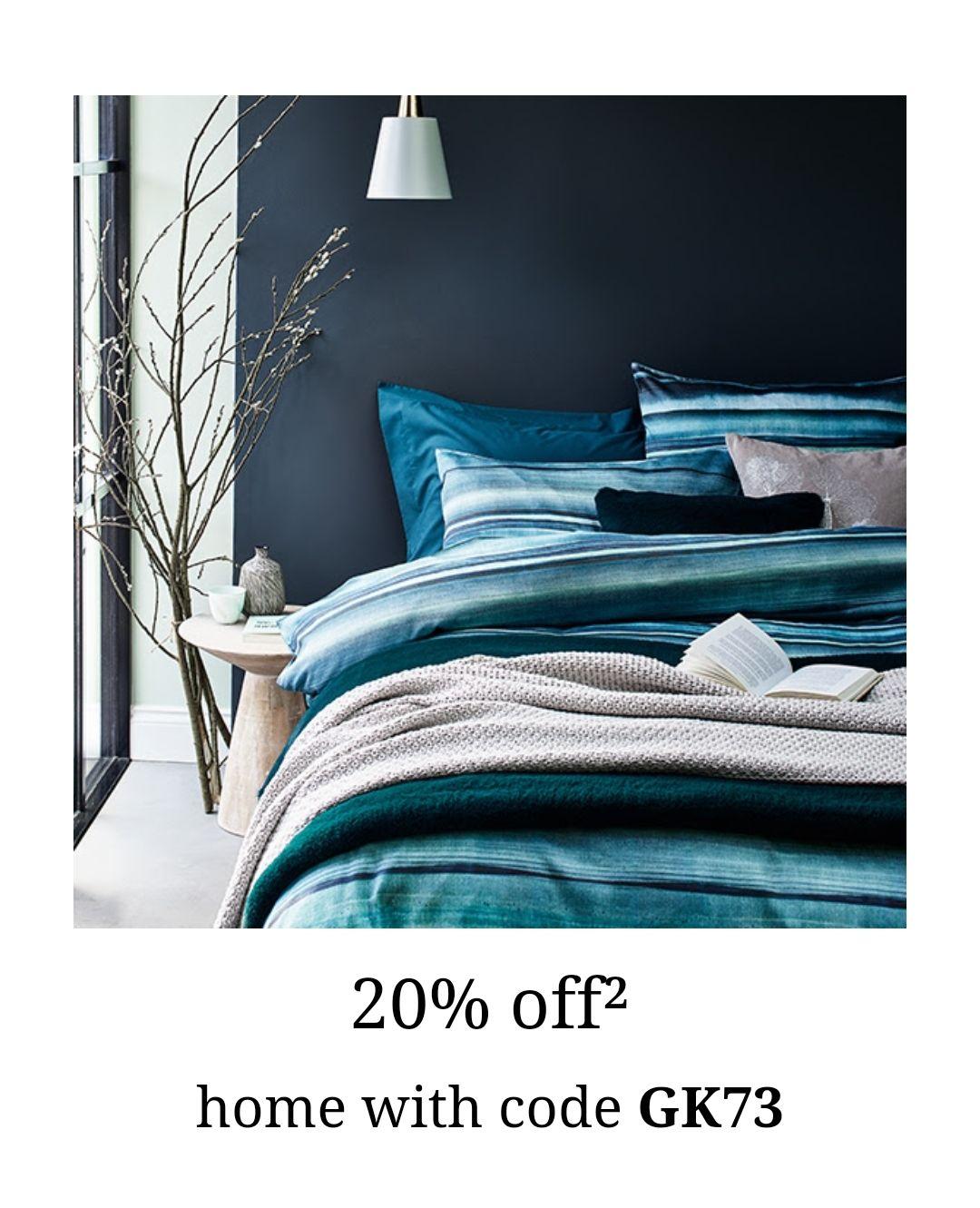 20% off home w/code at Debenhams