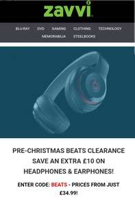 Zavvi cut BEATS earphones and headphones price for another £10 - now from £34.99
