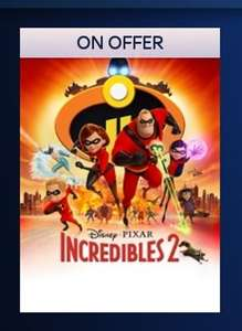 Incredibles 2 HD digital + dvd £7.99 or bluray £9.99 at sky store