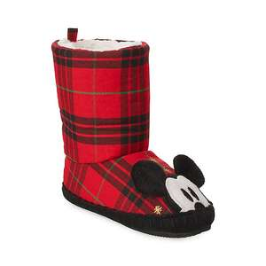 Mickey Mouse share the magic tartan slippers £5.99 & free personalisation @ Disney & free del