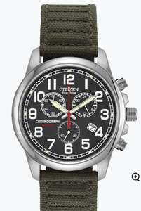 Citizen Men's Military Eco-Drive Chronograph Strap Watch, £89.99 with code at H samuel