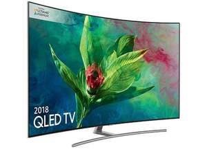 QE55Q8CN 55 inch Curved QLED Ultra HD Premium HDR 1500 4K Smart TV - AND FREE Samsung Galaxy S9+ for £1498 by Simply Electricals (Euronics)