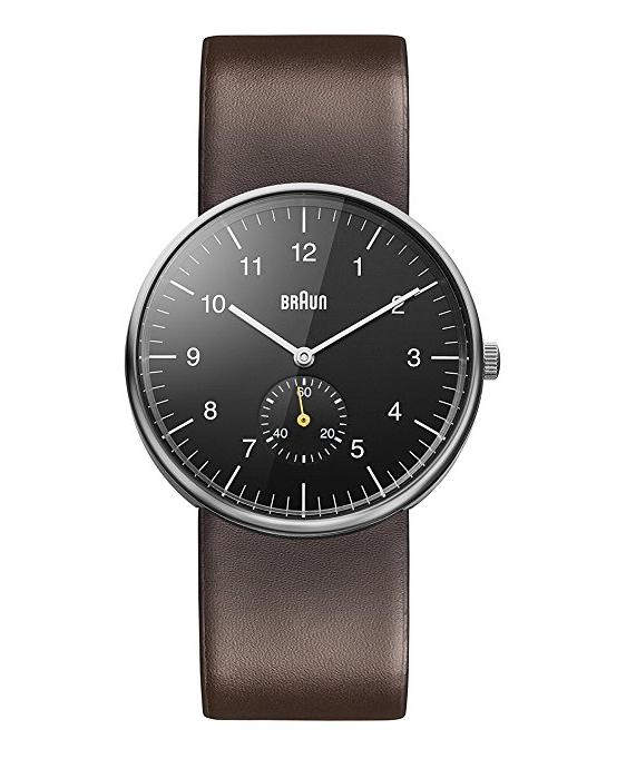 Braun BN0024BKBRG Bauhaus inspired Three Hand Quartz Movement Watch with Brown Leather Strap £48.78 @ Amazon