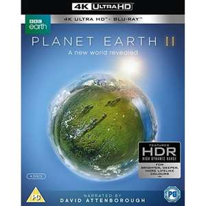Planet Earth II Box Set (4K + HDR Blu-ray) for £20.24 from Zoom ebay with code