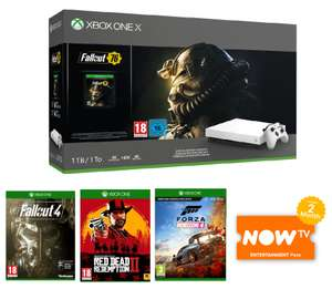 XBOX ONE X WITH FALLOUT 76 + FALLOUT 4 + RDR 2 + FH 4 + NOW TV for £409.99 Delivered @ Game