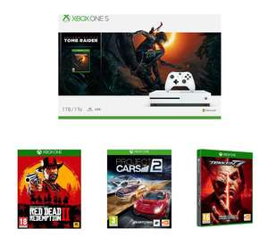 MICROSOFTXbox One S, Shadow of the Tomb Raider, Red Dead Redemption 2, Tekken 7 & Project Cars 2 Bundle £214.99 @ Currys