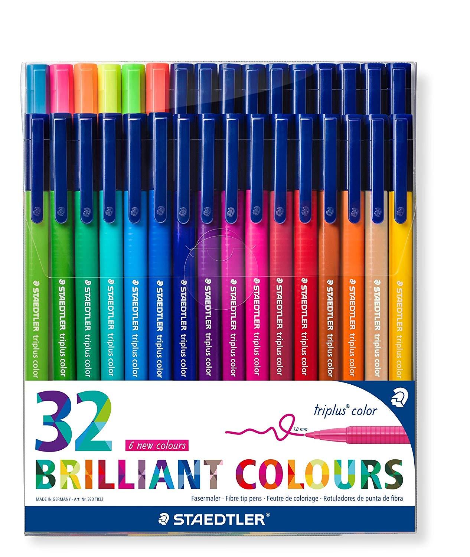 32 Pack of Staedtler 323 Triplus Colour Fibre-Tip Pens, 1.0 mm  FOR £13.03 Prime (+£4.49 Non prime) @ Amazon UK