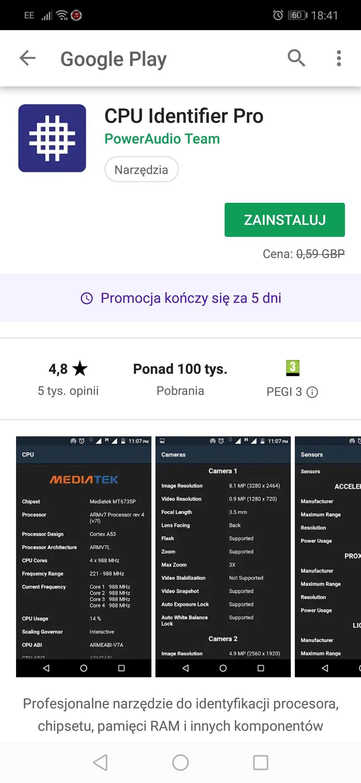 CPU Identifier Pro - FREE on Google Play Store
